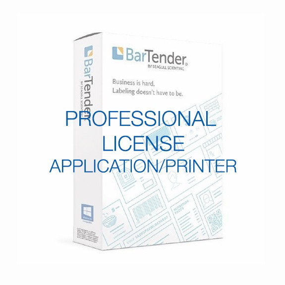 BarTender Professional - Application License (requires Printer Licenses)